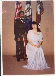 Military Ball photo with Mildred Vires, later to become my first former wife